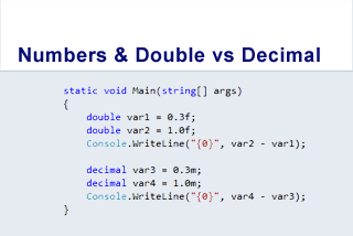 Data types: Numbers and Double vs Decimal