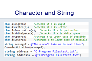 Data Types: Character and String
