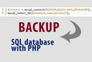 Backup SQL database with PHP