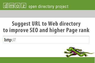 Suggest a site to the DMOZ Open Directory