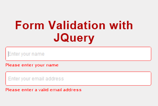 Validating form using Jquery